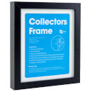 2D Black Collectors Frame with White Mount