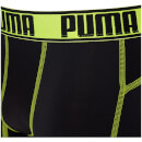 Puma Men's 2 Pack Active Boxers - Black/Blue/Lime