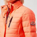 New Womens Superdry Fuji Slim Double Zip Hooded Jacket Acid Coral