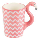 Sass & Belle Ziggy The Chevron Flamingo Mug