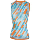 Castelli Women's Pro Mesh Sleeveless Baselayer - Glacier Lake/Orange