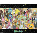 Rick and Morty Cast Mini Poster 40 x 50cm