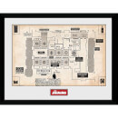 The Shining Map Framed Photograph 12 x 16 Inch