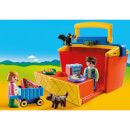 Playmobil 1.2.3 Take Along Market Stall with Carry Handle and Shape Sorting Function (9123)