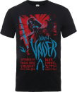 T-Shirt Homme Dark Vador Rock Poster - Star Wars - Noir