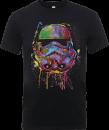 T-Shirt Homme Éclaboussures de Peinture Stormtrooper - Star Wars - Noir