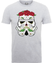 Star Wars Day Of The Dead Stormtrooper T-Shirt - Grey