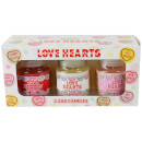 Swizzels Love Hearts Drei Kerze-Set