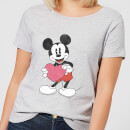 Disney Mickey Mouse Heart Gift Frauen T-Shirt - Grau