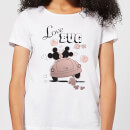 Disney Mickey Mouse Love Bug Women's T-Shirt - White