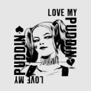 DC Comics Suicide Squad Harley Love Puddin Women's T-Shirt - Grey