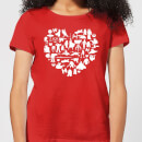 Star Wars Valentine's Heart Montage Women's T-Shirt - Red