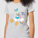 Disney Mickey Mouse Donald Daisy Kiss Frauen T-Shirt - Grau