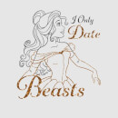 Disney Beauty And The Beast Princess Belle I Only Date Beasts Frauen T-Shirt - Grau