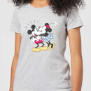 Camiseta Disney Mickey Mouse Beso Mickey y Minnie - Mujer - Gris