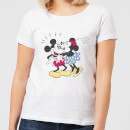 Disney Mickey Mouse Minnie Kiss Women's T-Shirt - White