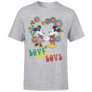 Disney Mickey Mouse Hippie Love T-Shirt - Grey