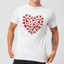 Disney Mickey Mouse Heart Silhouette T-Shirt - White
