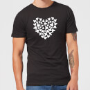 Disney Mickey Mouse Heart Silhouette T-Shirt - Black