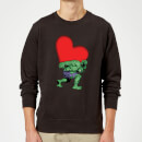 Marvel Comics Hulk Heart Sweatshirt - Black