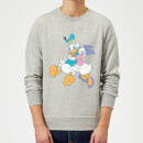 Sweat Homme Donald et Daisy Duck Câlin (Disney) - Gris