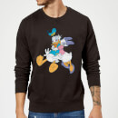 Disney Mickey Mouse Donald Daisy Kiss Sweatshirt - Black