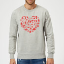 Sweat Homme Cœur Collage (Star Wars) - Gris