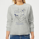 Disney Prinzessin Cinderella All You Need Is Love Frauen Pullover - Grau
