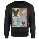 Disney Mickey Mouse Donald Duck Mickey Mouse Pluto Goofy Tiles Sweatshirt - Black