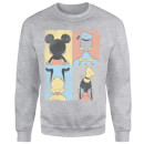 Sweat Homme Mickey Mouse Donald Duck Pluto Dingo (Disney) - Gris