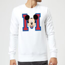 Disney Mickey Mouse M-Face Sweatshirt - White