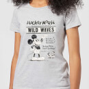 Camiseta Disney Mickey Mouse Póster Retro Wild Waves - Mujer - Gris