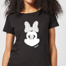 Disney Mickey Mouse Minnie Mouse Mirror Ilusion Women's T-Shirt - Black