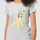 Disney Mickey Mouse Pluto Sitting Women's T-Shirt - Grey