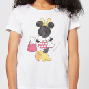 Disney Mickey Mouse Minnie Mouse Back Pose Women's T-Shirt - White