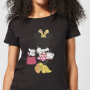 Disney Mickey Mouse Minnie Mouse Back Pose Women's T-Shirt - Black