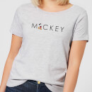 Disney Mickey Mouse Letters Dames T-shirt - Grijs