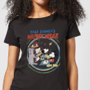 Disney Mickey Mouse Retro Poster Piano Women's T-Shirt - Black