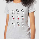 Disney Mickey Mouse Evolution Nine Poses Women's T-Shirt - Grey