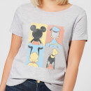 Disney Mickey Mouse Donald Duck Mickey Mouse Pluto Goofy Tiles Frauen T-Shirt - Grau