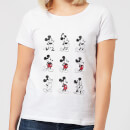 Disney Mickey Mouse Evolution Nine Poses Women's T-Shirt - White