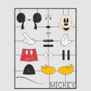 Disney Mickey Mouse Construction Kit T-Shirt - Grey
