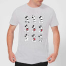 Disney Mickey Mouse Evolution Nine Poses T-Shirt - Grey