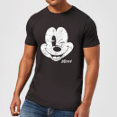 Disney Mickey Mouse Worn Face T-Shirt - Schwarz