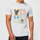 Disney Mickey Mouse Donald Duck Mickey Mouse Pluto Goofy Tiles T-Shirt - Grey