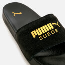 Puma Leadcat Suede Slide Sandals - Puma Black/Puma Team Gold