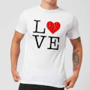 Love Heart Textured T-Shirt - White
