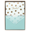 Portico Designs Notecards - Gold Spotty 'Thanks' (Set of 10)