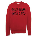 Marvel Avengers Assemble Team Icons Sweatshirt - Red