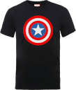 T-Shirt Homme Marvel Avengers Assemble - Captain America Simple Bouclier - Noir